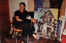 Janice Porter in her North Minneapolis studio, late 1990s