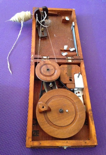 The book charkha is a mobile, affordable spinning wheel in a box.